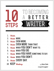 How to be a better writer - writing